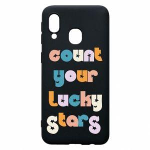 Etui na Samsung A40 Count your lucky stars inscription