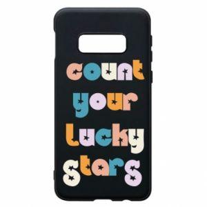 Etui na Samsung S10e Count your lucky stars inscription