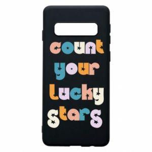 Etui na Samsung S10 Count your lucky stars inscription
