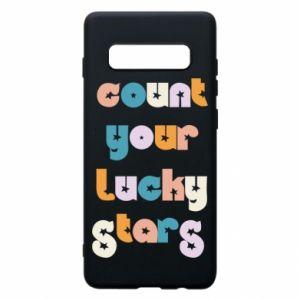 Etui na Samsung S10+ Count your lucky stars inscription