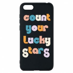 Etui na Huawei Y5 2018 Count your lucky stars inscription