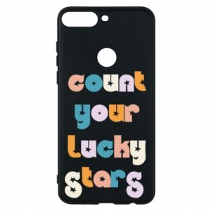 Etui na Huawei Y7 Prime 2018 Count your lucky stars inscription
