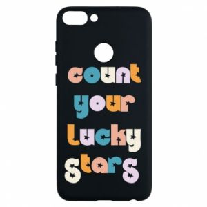 Etui na Huawei P Smart Count your lucky stars inscription