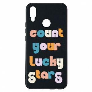 Etui na Huawei P Smart Plus Count your lucky stars inscription