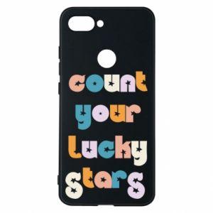 Etui na Xiaomi Mi8 Lite Count your lucky stars inscription