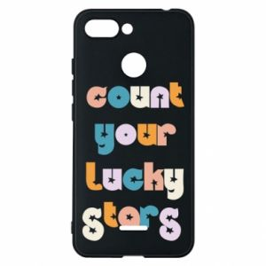 Etui na Xiaomi Redmi 6 Count your lucky stars inscription