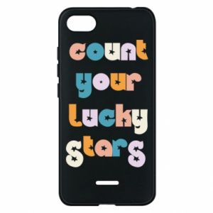 Etui na Xiaomi Redmi 6A Count your lucky stars inscription