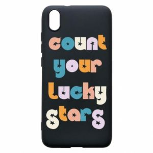 Etui na Xiaomi Redmi 7A Count your lucky stars inscription