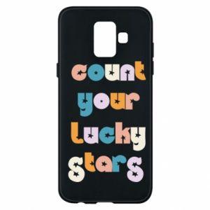 Etui na Samsung A6 2018 Count your lucky stars inscription