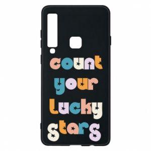 Etui na Samsung A9 2018 Count your lucky stars inscription