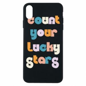 Etui na iPhone Xs Max Count your lucky stars inscription