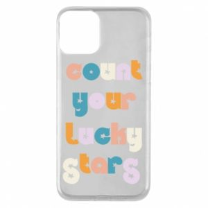 Etui na iPhone 11 Count your lucky stars inscription