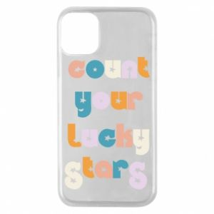 Etui na iPhone 11 Pro Count your lucky stars inscription