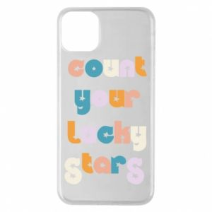 Etui na iPhone 11 Pro Max Count your lucky stars inscription