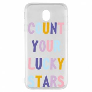 Samsung J7 2017 Case Count your lucky stars