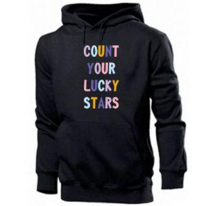 Men's hoodie Count your lucky stars