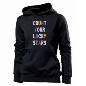 Women's hoodies Count your lucky stars