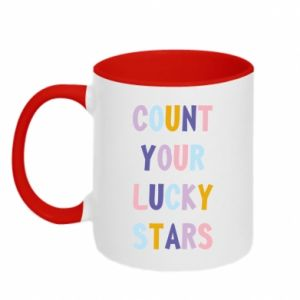 Kubek dwukolorowy Count your lucky stars