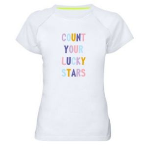 Women's sports t-shirt Count your lucky stars