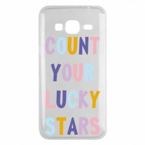 Samsung J3 2016 Case Count your lucky stars