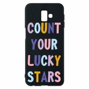 Samsung J6 Plus 2018 Case Count your lucky stars