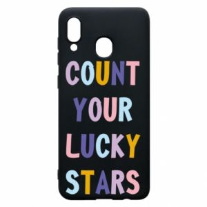 Samsung A30 Case Count your lucky stars