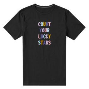 Męska premium koszulka Count your lucky stars