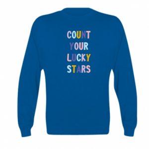 Kid's sweatshirt Count your lucky stars