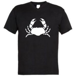 Men's V-neck t-shirt Crab - PrintSalon