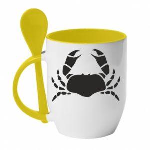 Mug with ceramic spoon Crab - PrintSalon