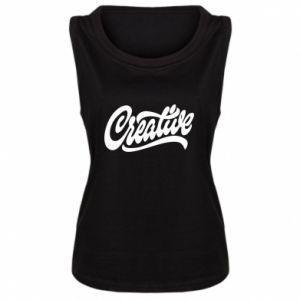 Damska koszulka bez rękawów Creative