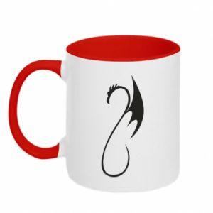 Two-toned mug Crochet dragon