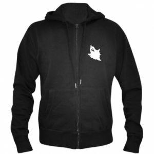 Men's zip up hoodie Crooked face - PrintSalon