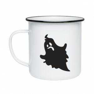 Enameled mug Crooked face - PrintSalon