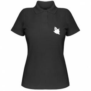 Women's Polo shirt Crooked face - PrintSalon
