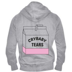 Męska bluza z kapturem na zamek Cry Baby Tears