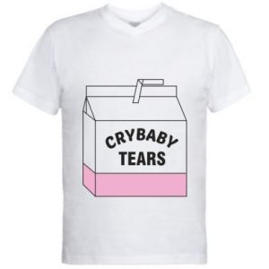 Men's V-neck t-shirt Cry Baby Tears