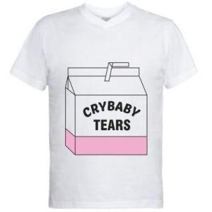 Męska koszulka V-neck Cry Baby Tears