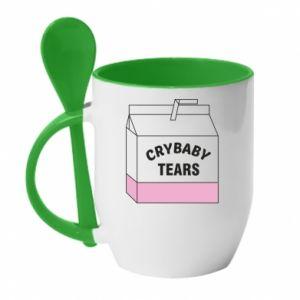 Kubek z ceramiczną łyżeczką Cry Baby Tears