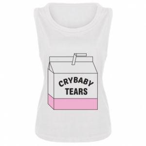 Damska koszulka bez rękawów Cry Baby Tears