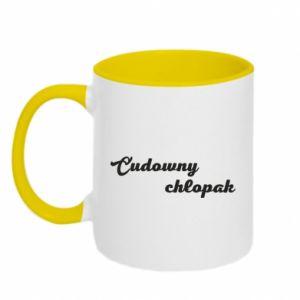 Two-toned mug Wonderful boy - PrintSalon