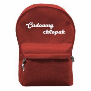 Plecak z przednią kieszenią Cudowny chłopak
