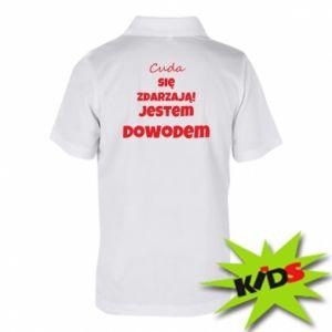 Dziecięca koszulka polo Cuda się zdarzają!