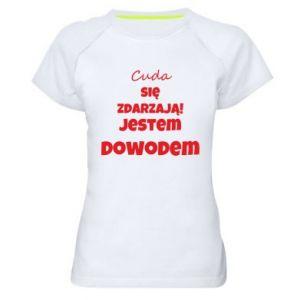 Damska koszulka sportowa Cuda się zdarzają!