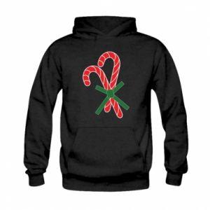 Kid's hoodie Christmas Cane Candies