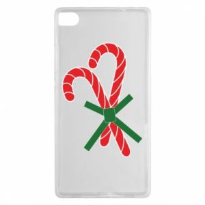 Huawei P8 Case Christmas Cane Candies