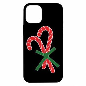 Etui na iPhone 12 Mini Cukierki z trzciny bożonarodzeniowej