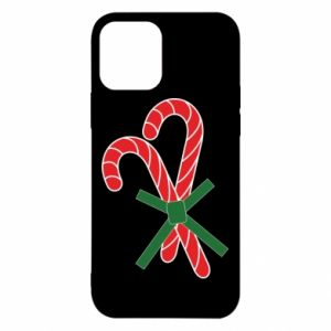 Etui na iPhone 12/12 Pro Cukierki z trzciny bożonarodzeniowej