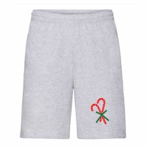 Men's shorts Christmas Cane Candies