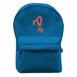 Backpack with front pocket Christmas Cane Candies